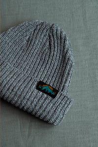 Ribbed Beanie - Grey