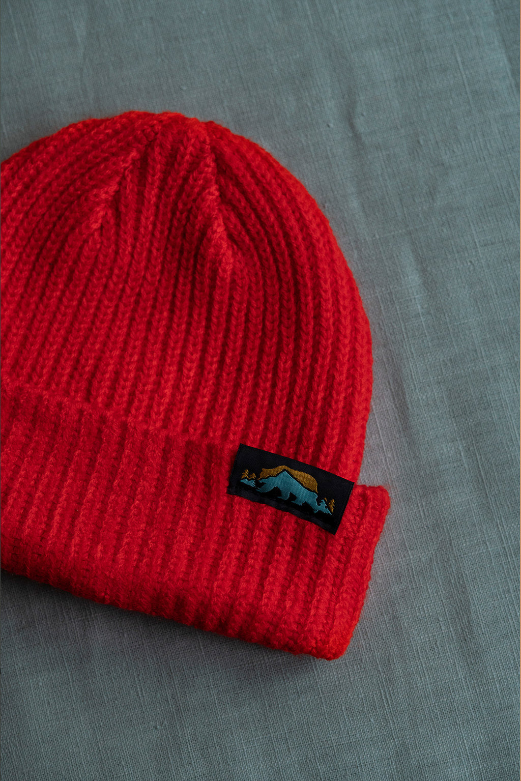 Ribbed Beanie - Red