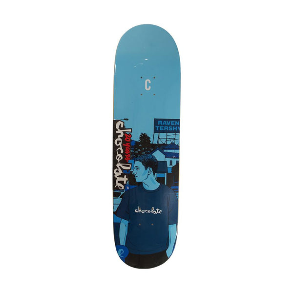 Chocolate Skateboards 20 Years Raven Tershy City Series Deck 8.5