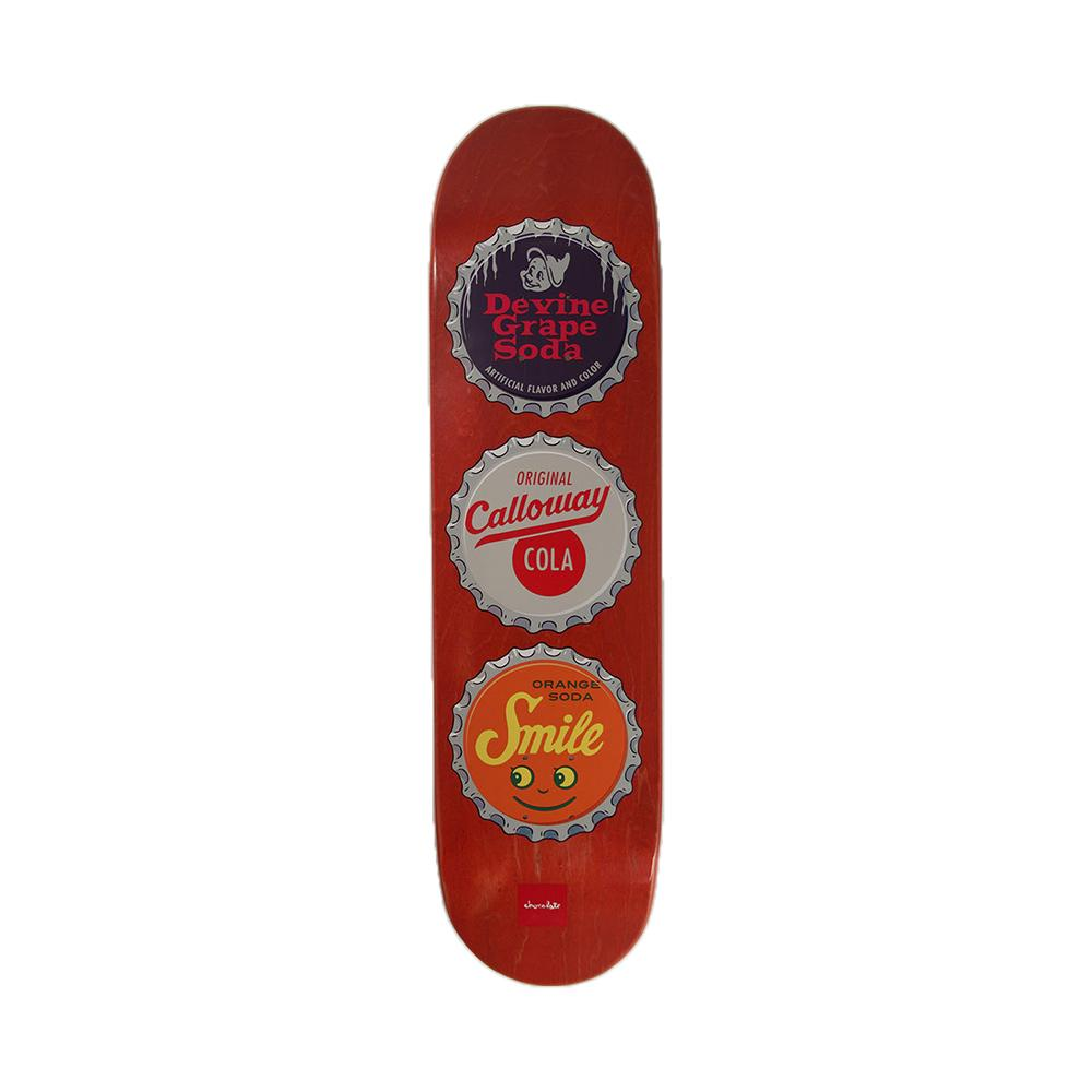 Chocolate Skateboards Devine Calloway Cola Bottle Caps Deck 8.13