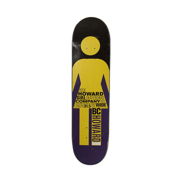 Girl Skateboards Rick Howard Giant OG 2002 Series Deck 7.87