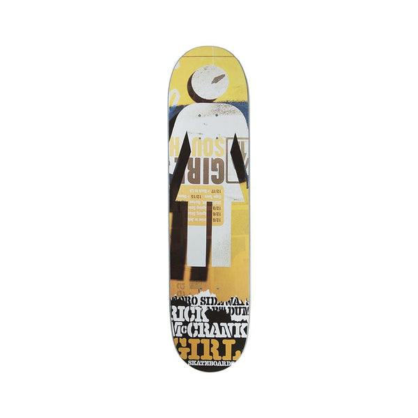 Girl Skateboards Rick McCrank Pedro Sideways Deck 7.5