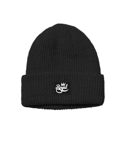 The Royal Cuff Beanie - Black