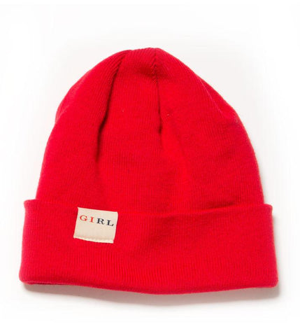 Classic Fold Beanie - Red