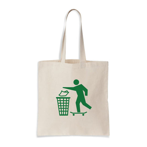 Don't trash tote bag chocolate skateboards