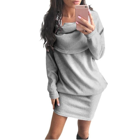 Long Sleeve Bodycon Lapel Sweater