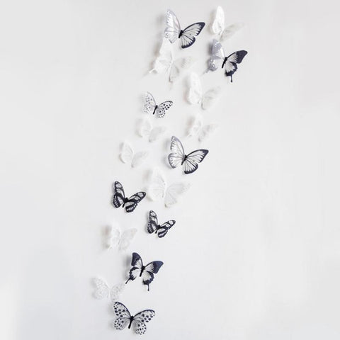 3D Butterfly Decor Wall Sticker 18 Pieces