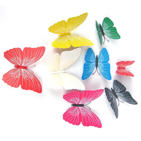 3D Wall Stickers Butterfly Wall Decals 12pcs