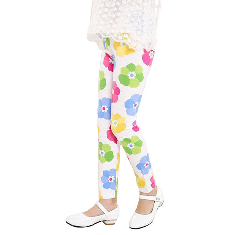 Flower Printed Leggings for Girls