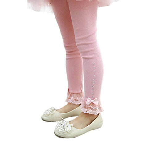 Flower Knot Girls Cotton Leggings