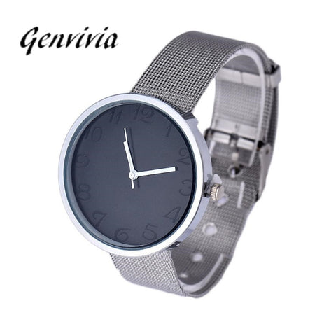 Analog Stainless Steel Silver Wrist Watch