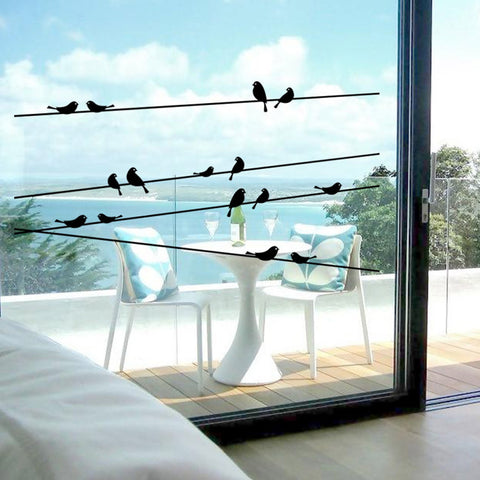 Branch Black Bird Art  Vinyl Wall Decal Stickers Removable