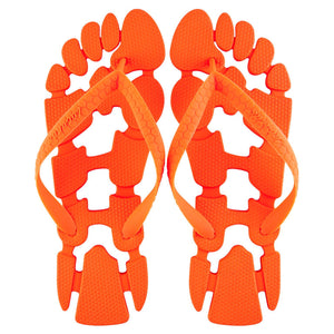 Clockwork Orange: The non-slip flip-flops (thongs) for the beach