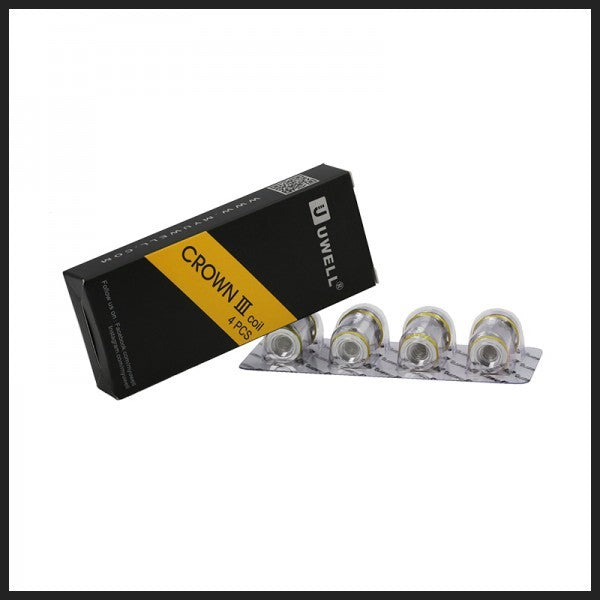 Uwell Crown 3 0.25ohm coils pack of 4, , Wick Addiction, Wick Addiction,  - Wick Addiction