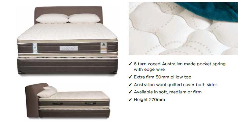 Australian Made Slumberest Cloud 9 Pillow Top Medium Feel Mattress at Affordable Price