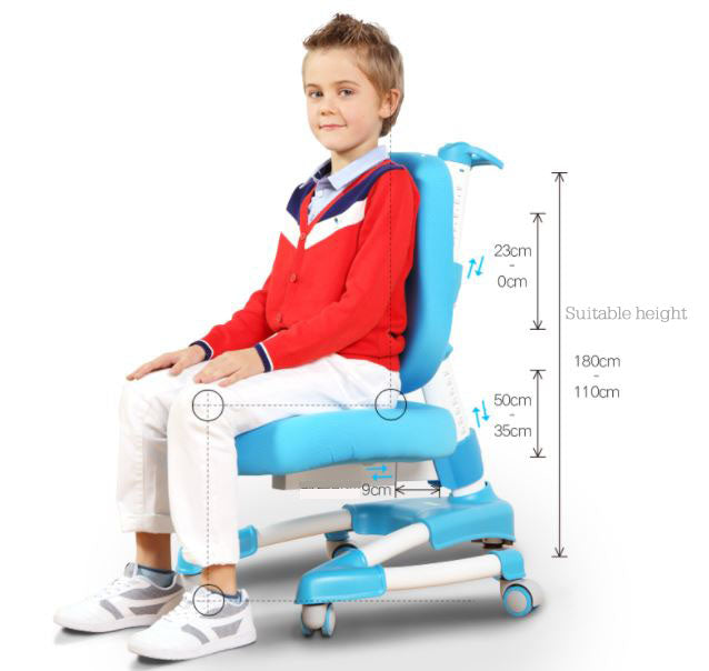 iStudy kids ergonomic height adjustable chair C08 only at Comfort for All Melbourne VIC