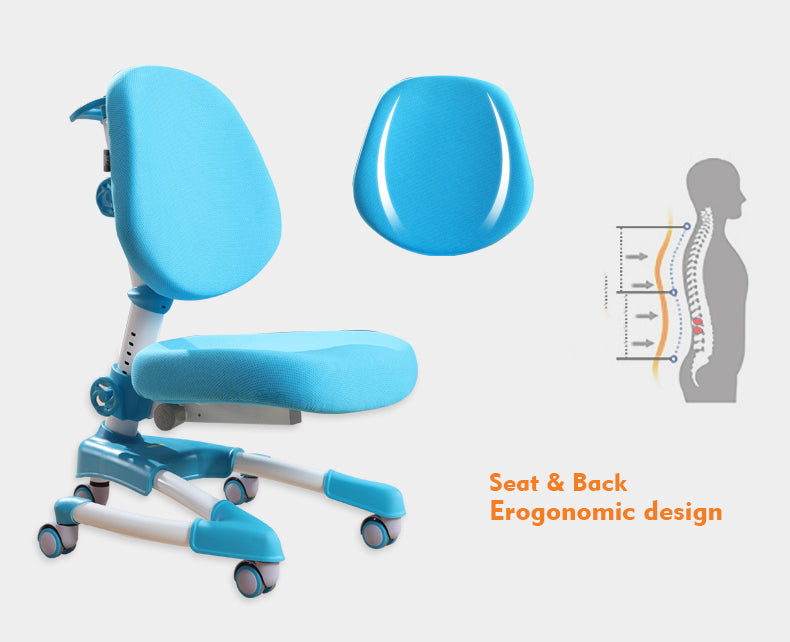 iStudy kids ergonomic height adjustable chair C08 only at Comfort for All Brisbane QLD