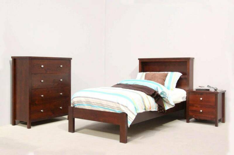 Tommy Timber Bookend Bed Frame