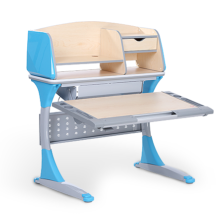iStudy Kids Height Adjustable Desk S100B in Blue Colour Only At Comfort for All Melbourne