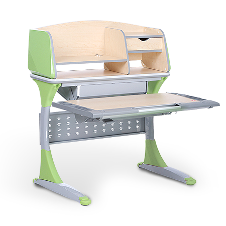 iStudy Kids Ergonomic Height Adjustable Desk S100B in Green Colour At Comfort for All Sydney