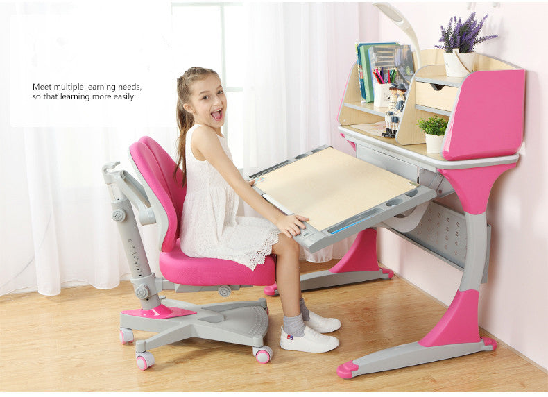 iStudy Height Adjustable Children Desk S100B With Tiltable Desktop