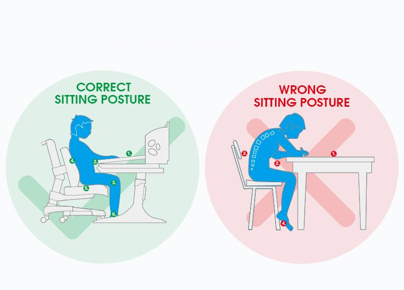 "iStudy Height Adjustable Chair E06 offers No more ""unhealthy sitting marathons""."