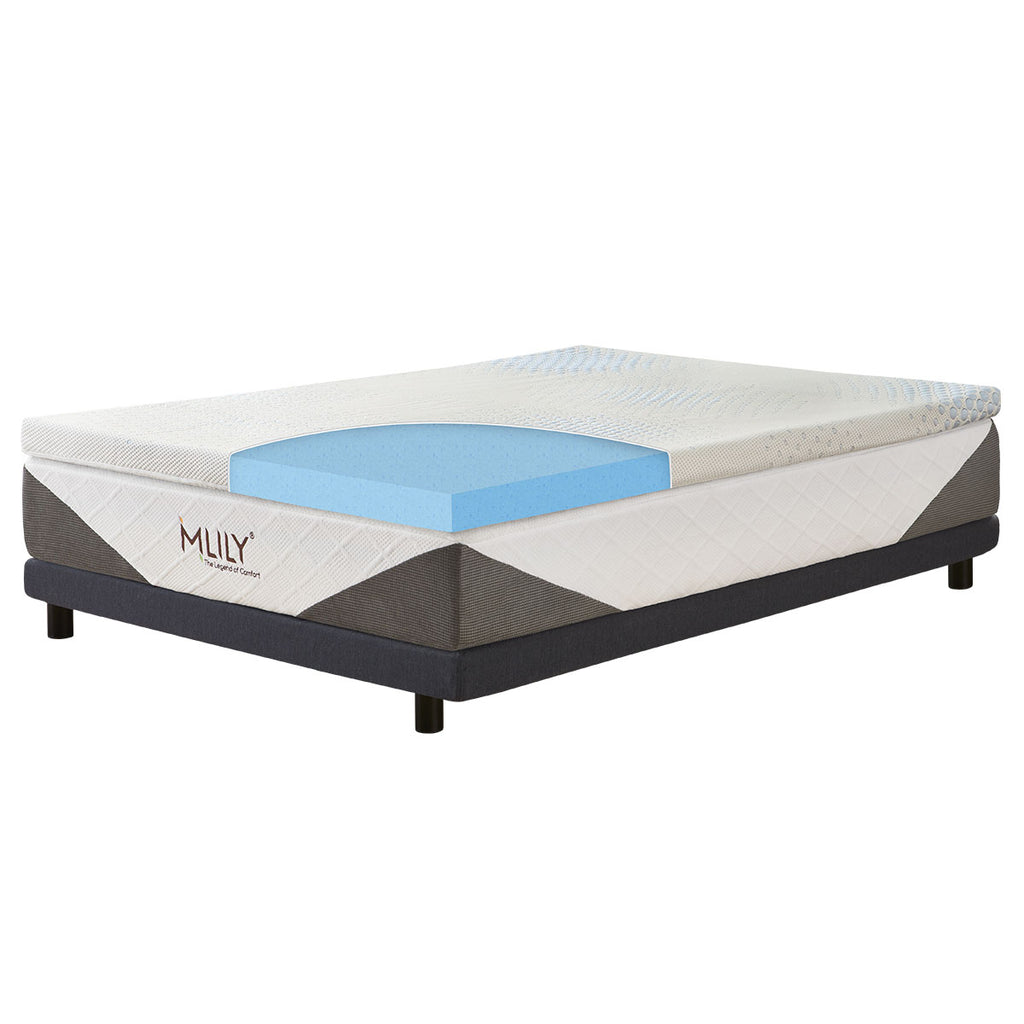 Mlily ENHANCEIPOLAR GEL FUSION MATTRESS TOPPER - 5cm BEST PRICE AT COMFORT FOR ALL