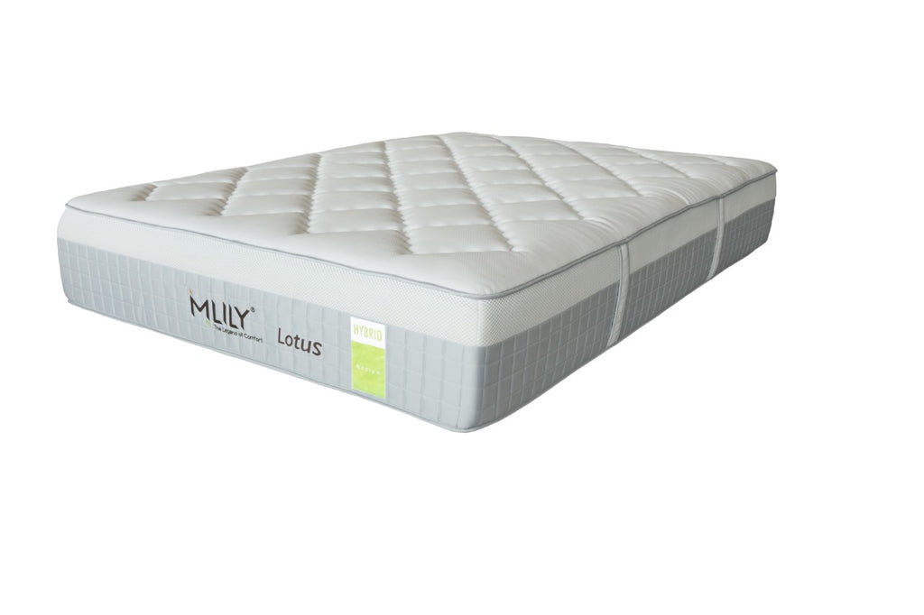 MLILY LOTUS HYBRID MEDIUM MATTRESS BEST PRICE AT COMFORT FOR ALL