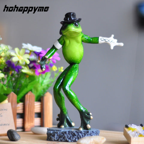 Frog Miniature Resin 2017 New Creative Jackson Imitation Crafts Ornaments Dances Figurines Home Decoration Frog Miniature Resin
