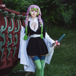 Demon Slayer Mitsuri Kanroji Cosplay Costume In Stock