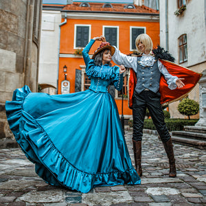 Howl's Moving Castle Sophie Hatter Cosplay Dress - Custom Made