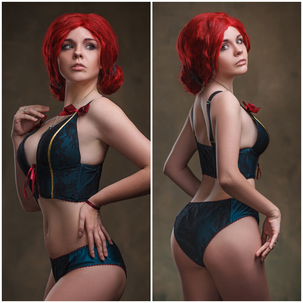Witcher Wild Hunt Triss Merigold Cosplay Lingerie
