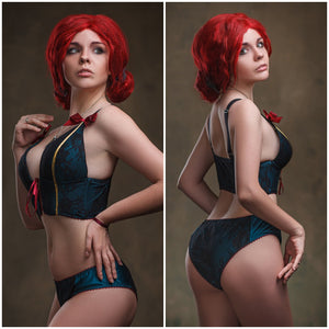 Witcher Wild Hunt Triss Merigold Cosplay Lingerie Custom Made