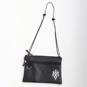 Drug Honey Logo synthetic Leather Sacoche Bag (Black)