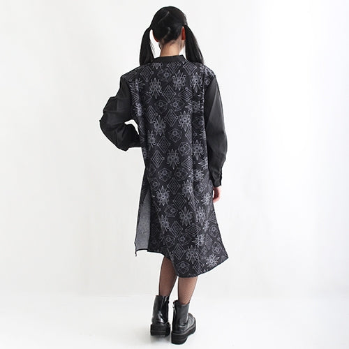 Drug Honey Logo China Shirt Dress (Black)