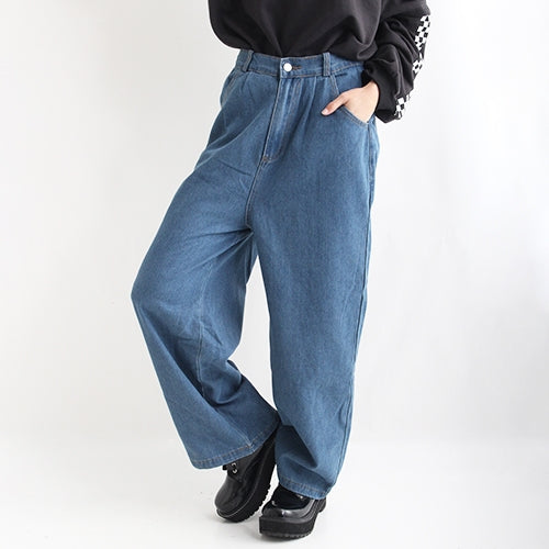 Drug Honey Skeleton Teddy Embroidery Denim Wide Pants