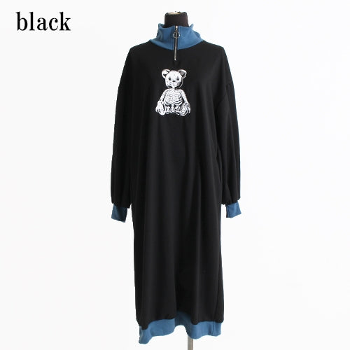 Drug Honey Skeleton Teddy Rib Long Sweatshirt (2 color)