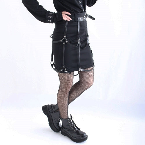 Drug Honey Harness Tight Skirt (Black)