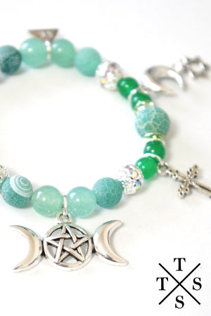 XTS Green Mode PentagraMoon Bracelet - YOU ARE MY POISON