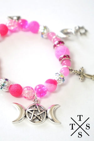 XTS Pink Mode PentagraMoon Bracelet - YOU ARE MY POISON