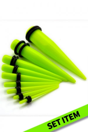 Expander Bodypierce 9Set 1.6-10mm (Vivid Green)