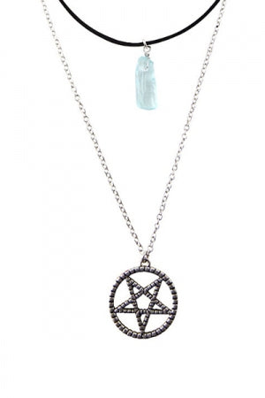 PENTAGRAM & TURQUOISE CHOKER & NECKLACE SET - YOU ARE MY POISON