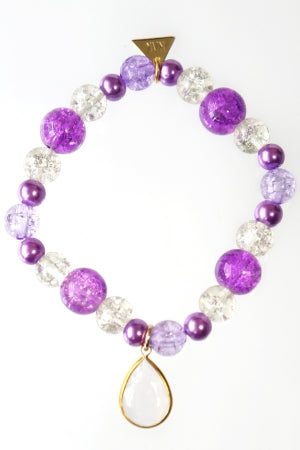 XTS Purple Drop Bracelet - YOU ARE MY POISON