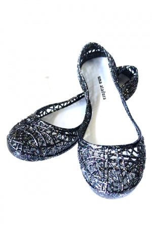 Glitter Jelly PVC Shoes (Black) - YOU ARE MY POISON
