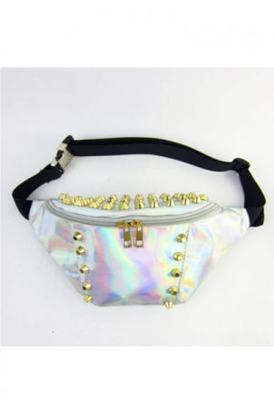 Hologram Studs Waist Poach Bag - YOU ARE MY POISON