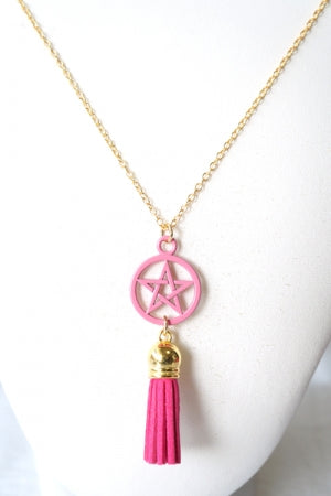 XTS Pentagram Pop Pink Necklace - YOU ARE MY POISON