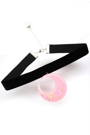 XTS Pink Moon Velvet Choker - YOU ARE MY POISON