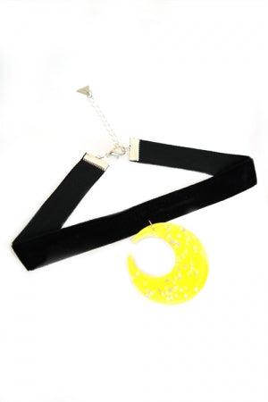 XTS Moon Velvet Choker - YOU ARE MY POISON