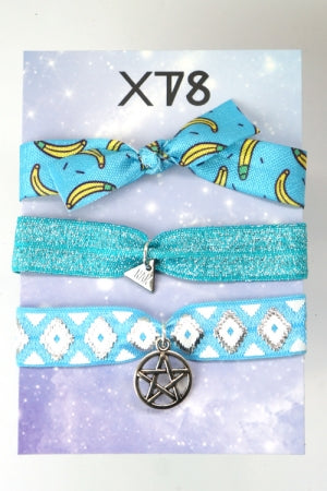 XTS Banana Blue Hair Tie - YOU ARE MY POISON