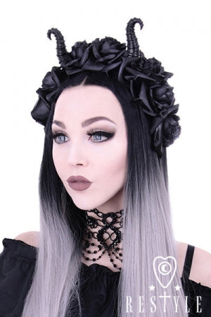 Restyle Diabolical & Roses headband - YOU ARE MY POISON